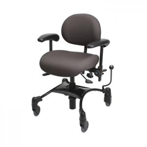 כסא משרדי ארגונומי עם בסיס רחב 4 גלגלים