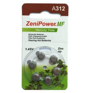 סוללות למכשירי שמיעה ZENI POWER312
